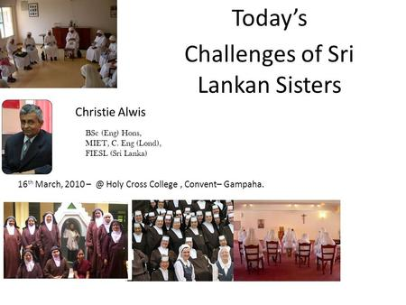 Challenges of Sri Lankan Sisters