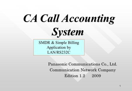 CA Call Accounting System