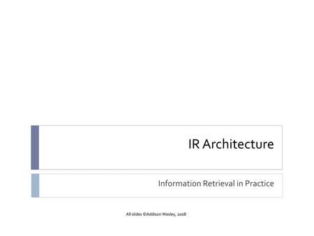 Information Retrieval in Practice