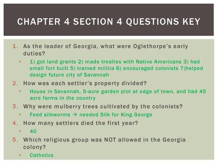 Chapter 4 Section 4 questions key
