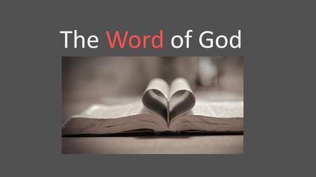 The Word of God.