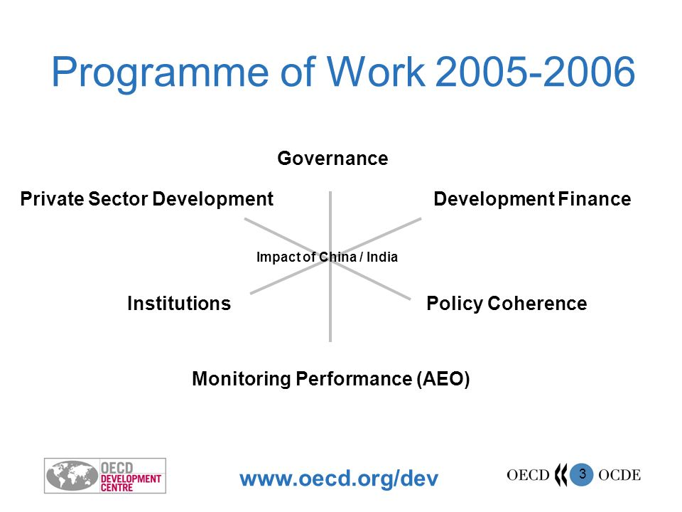 www.oecd.org/dev 4 How do aid, trade, migration, investment policies impact on development.