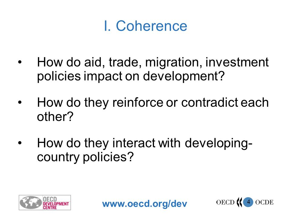 www.oecd.org/dev 5 Migration-AidGhana, Mali, Moldova Migration-InvestmentEcuador Migration-TradeMorocco, Central America Investment-AidSenegal Investment-TradeKenya Trade-Aid Viet Nam, Mozambique, Uganda, Tanzania, Zambia Migration-DevelopmentCentral Europe, Albania, Bulgaria, India, Turkey Evidence from Country Case Studies