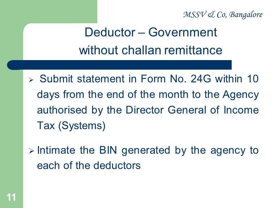 MSSV & Co, Bangalore 12 Form No.16 – Salary Form No.