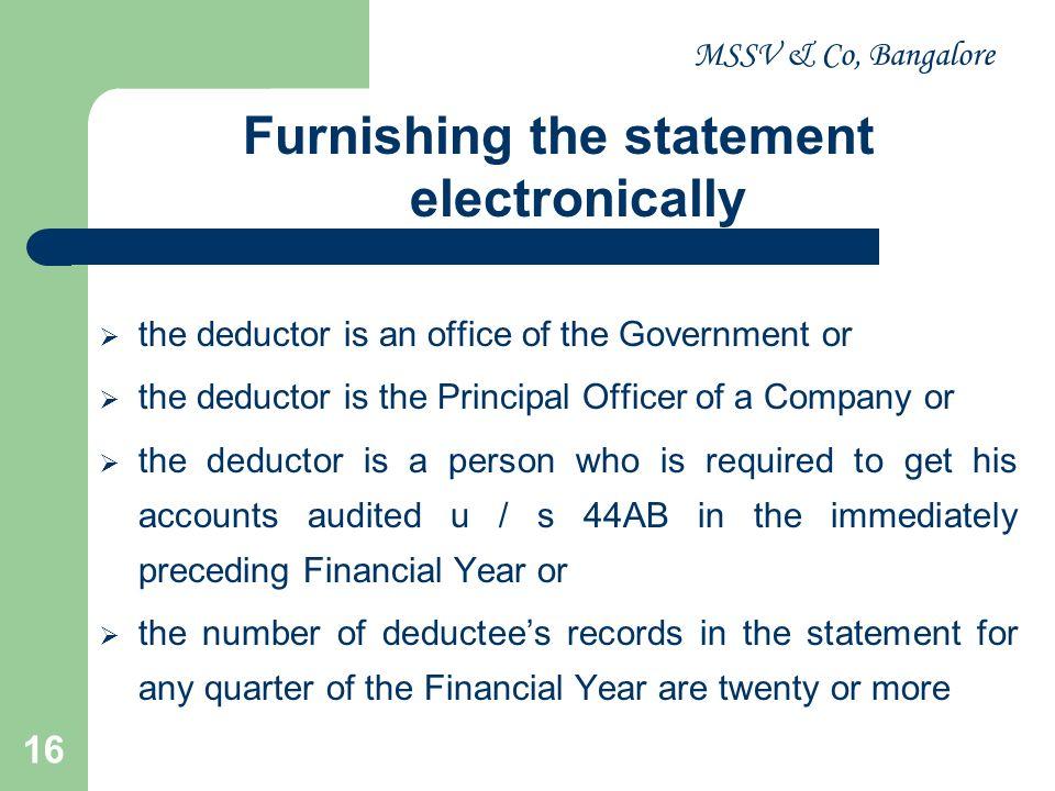 MSSV & Co, Bangalore 17 CIRCULAR / NOTOFICATIONS Notification No.