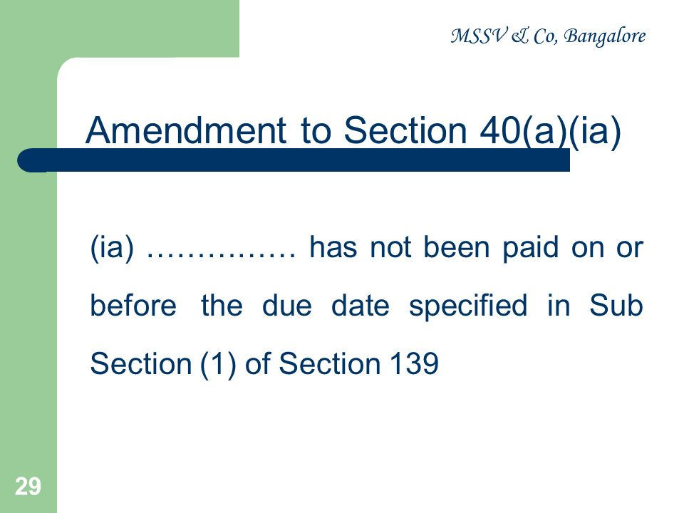 MSSV & Co, Bangalore 30 ISSUES - GENERAL Rent paid for the months of April 2010 to June 2010 to owner A is Rs.