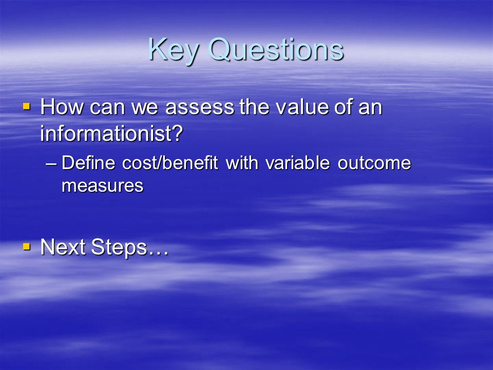 Need for Informationists is Clear; Opportunities are Less So Realizing the Vision…
