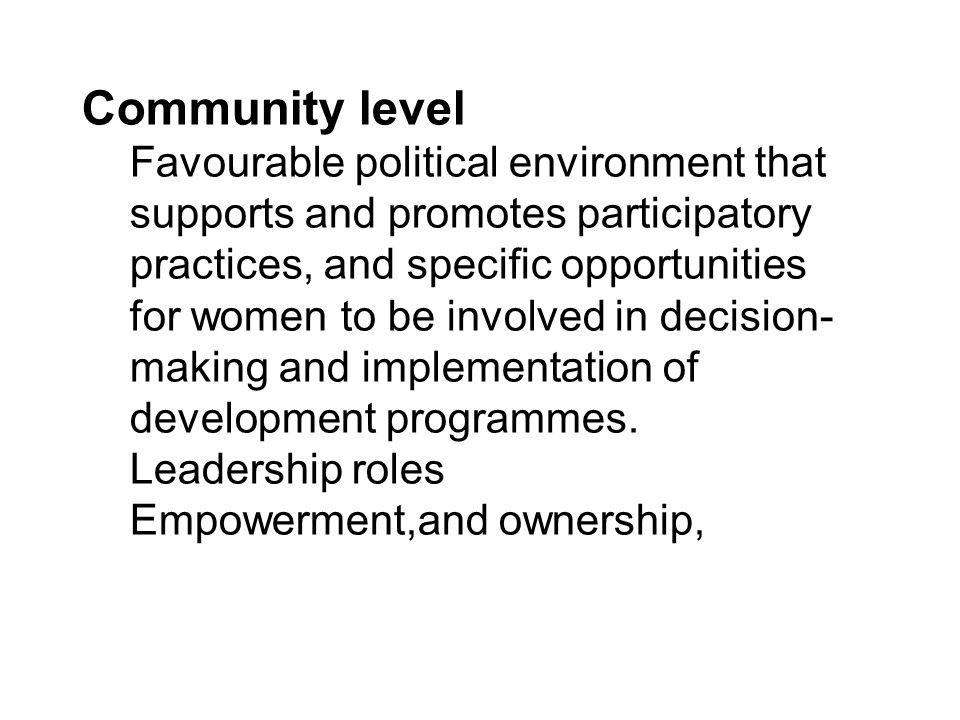 Governance Role at Central Level –Policy and Planning.
