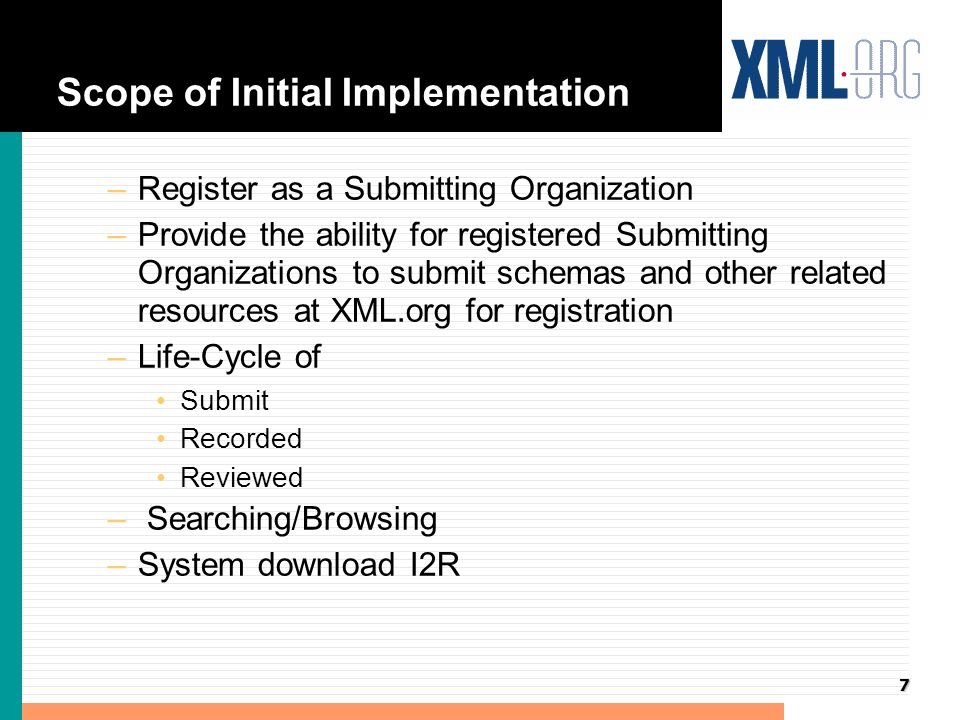 8 Life-cycle of Registration l Add one or two slides showing process flow
