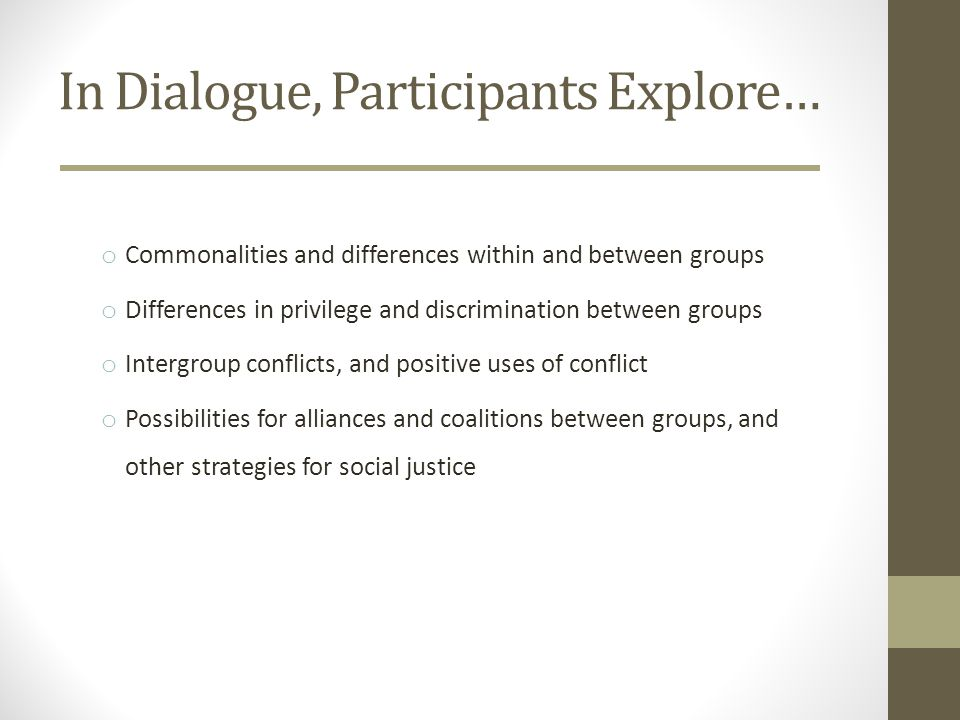 MAJOR RESEARCH QUESTIONS DOES INTERGROUP DIALOGUE INCREASE INTERGROUP UNDERSTANDING, INTERGROUP RELATIONSHIPS, AND COMMITMENT TO INTERGROUP COLLABORATION.