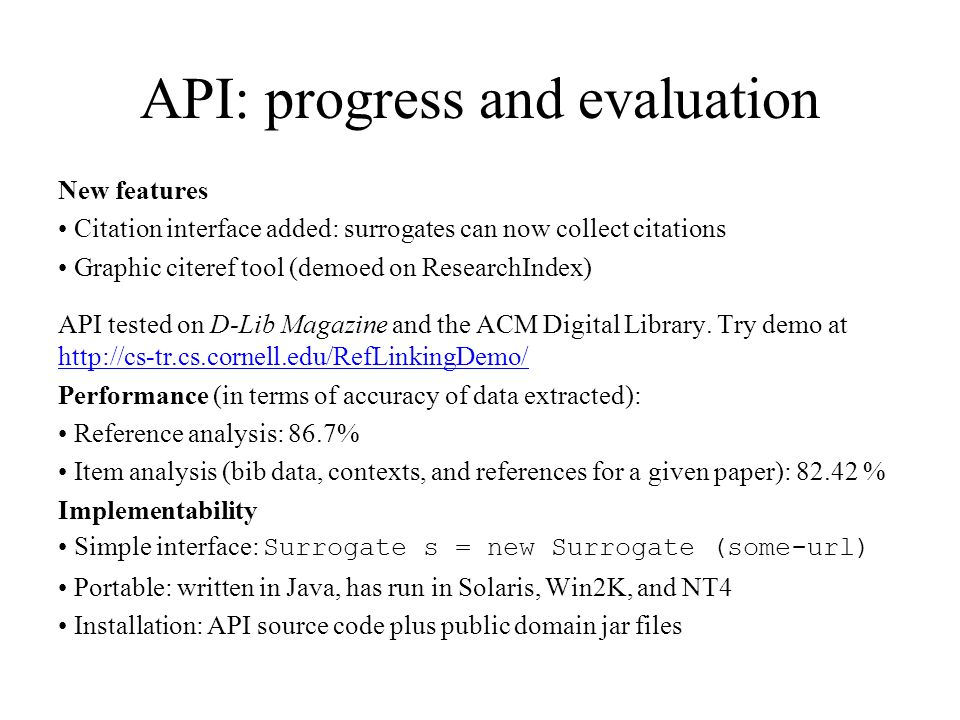 EPrints.org software http://www.eprints.org/ Generates eprints archives that are compliant with the Open Archives Protocol for Metadata Harvesting.