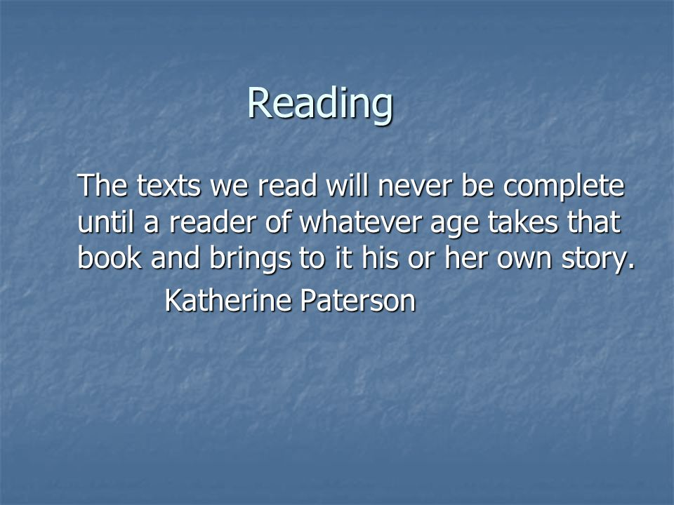 Writing Writing is the foundation of reading; It may be the most basic way to learn about reading.