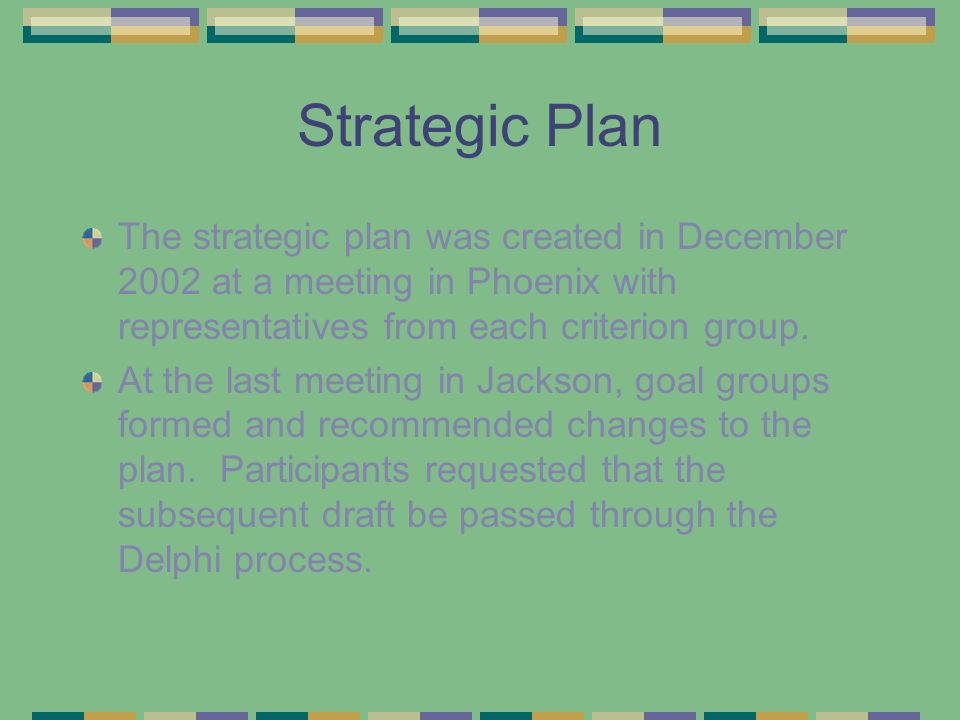 Delphi 19 & 20 Most revisions in each round were incorporated either in the text or by comments in the plan (see handout).