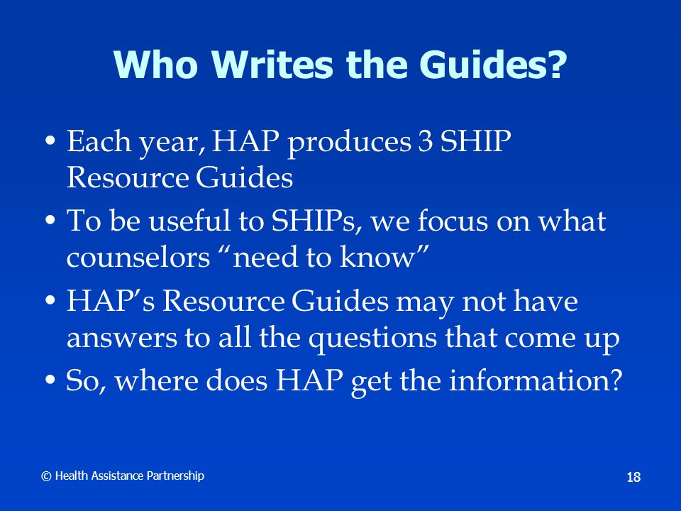 © Health Assistance Partnership 19 Medicare Sources Constitution of the United States Statutes (Congress: legislative branch) Code of Federal Regulations (HHS: executive branch) CMS Online Manual System