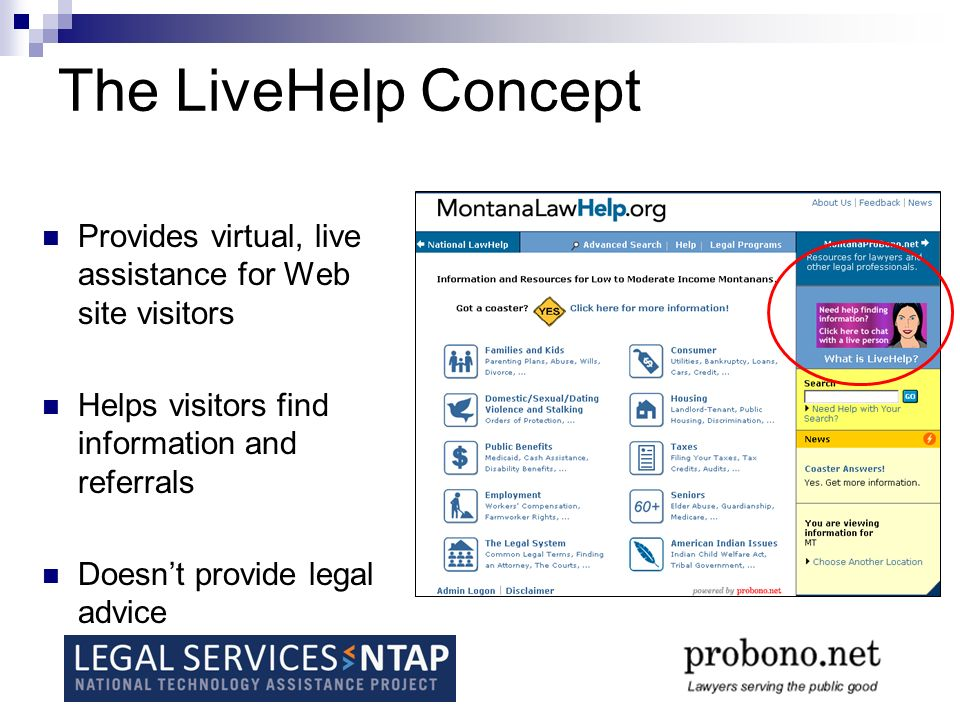 Where is LiveHelp being used.