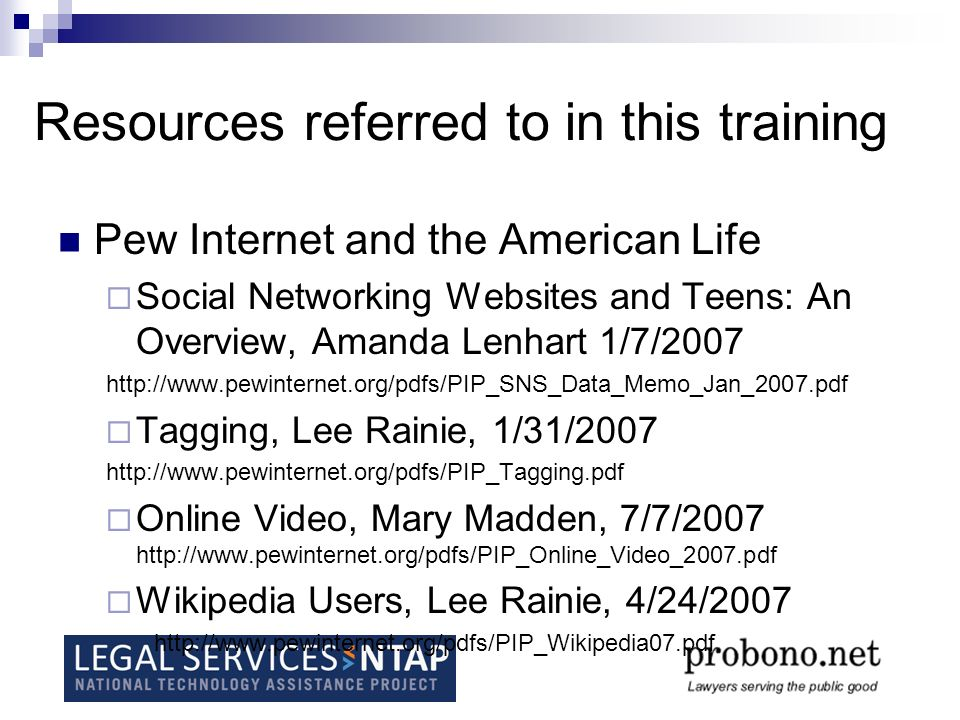 Resources Referred to in this Training Usability: Top Ten Mistakes in Website Design – Jacob Neilson http://www.useit.com/alertbox/9605.htmlhttp://www.useit.com/alertbox/9605.html For a more basic understanding of usability start here: Usability 101 http://www.useit.com/alertbox/20030825.html