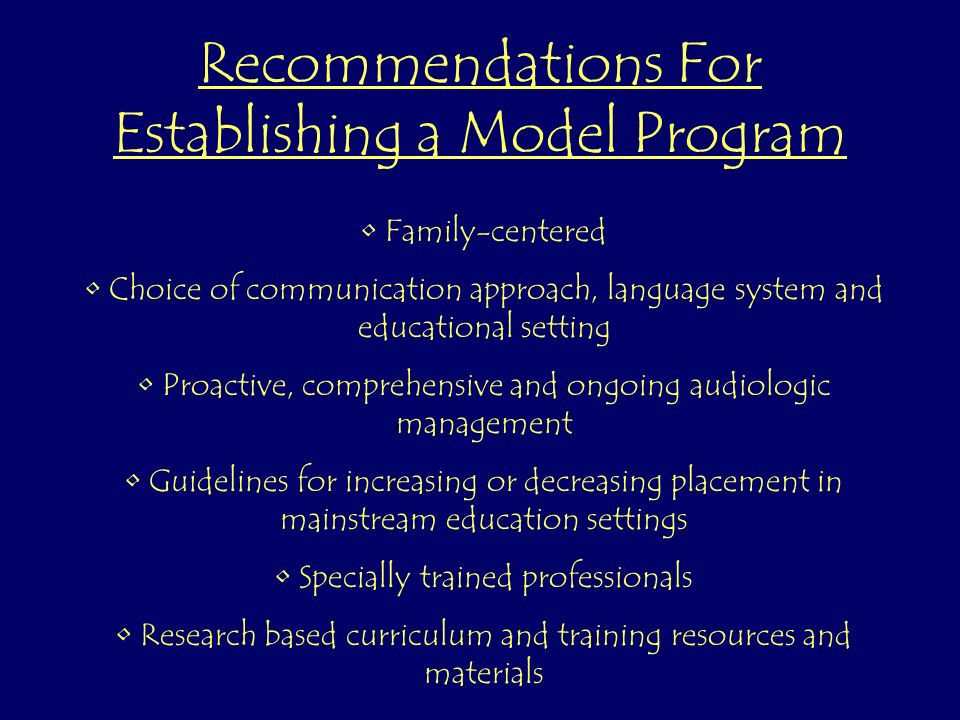 Recommendations For Implementation Monitor language development of children.
