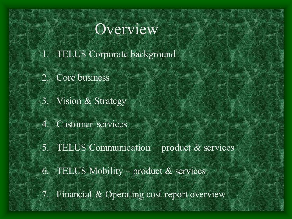 TELUS Corporate background TELUS Corporation was created from the 1999 merger of BC TELECOM and the former TELUS – two Western Canadian incumbent local exchange carriers (ILECs) – and the acquisition in 2000 of both the Eastern Quebec ILEC QuébecTel (now TELUS Québec) and the national digital wireless company Clearnet Communications Inc.