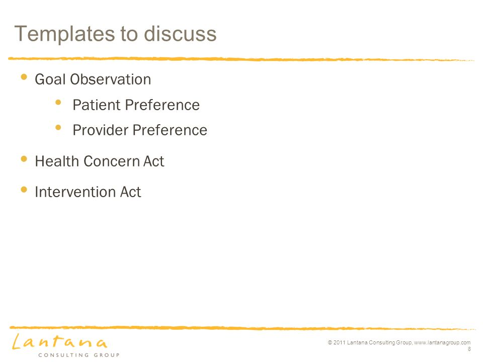 © 2011 Lantana Consulting Group, www.lantanagroup.com 9 Related documents? Other topics