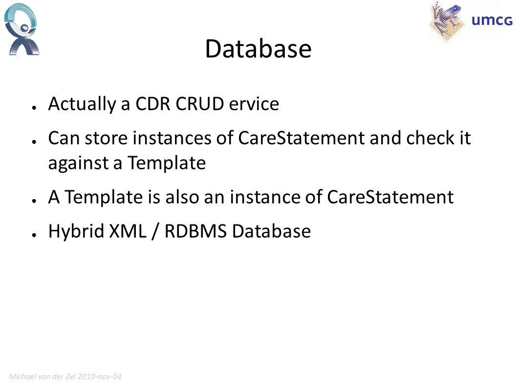 Michael van der Zel 2010-nov-0414 CDR XML SQL Diagram XML in column (e.g.