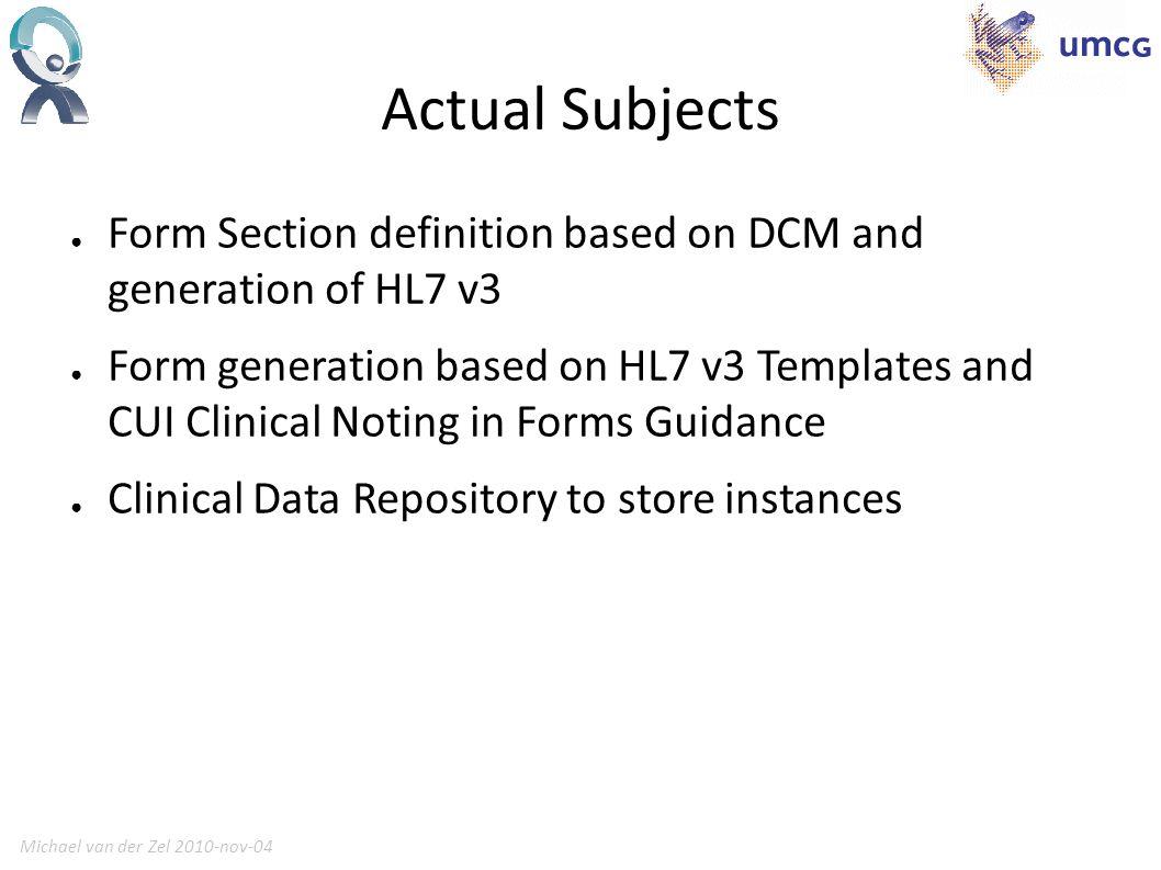 Michael van der Zel 2010-nov-046 free text BL observations in section dizzyness CD observation with ValueSet of 4.