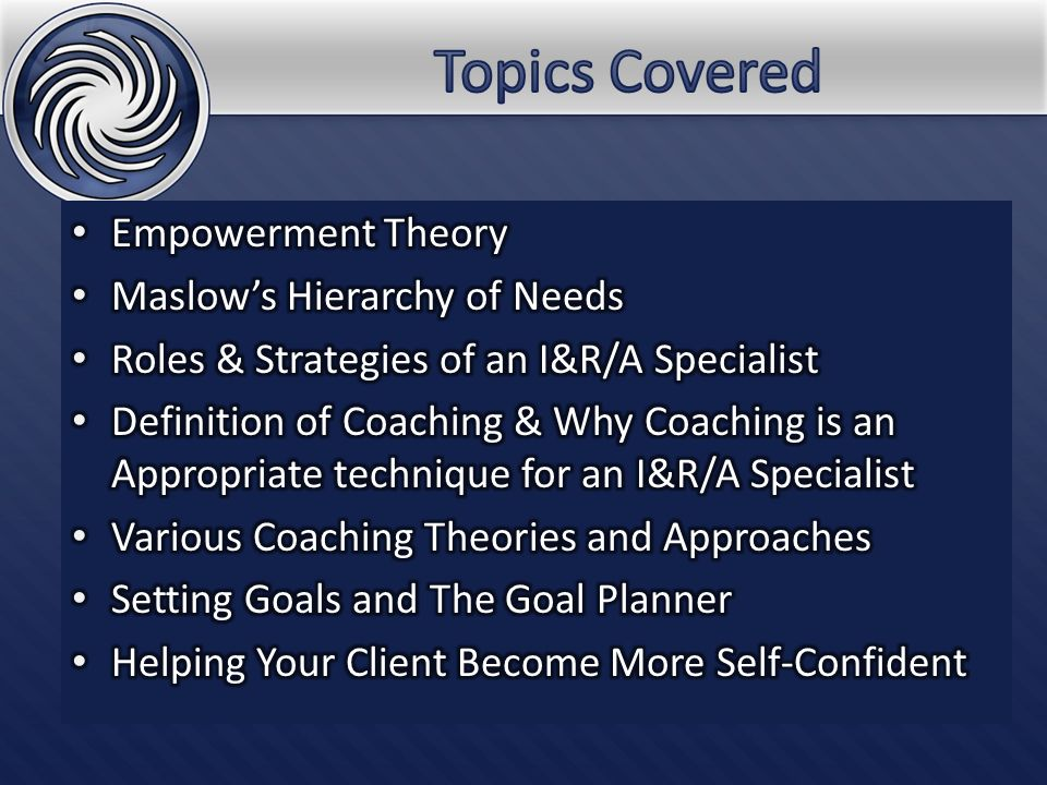 Empowerment Theory Empowerment – process by which individuals gain power, access to resources and control over their own lives.