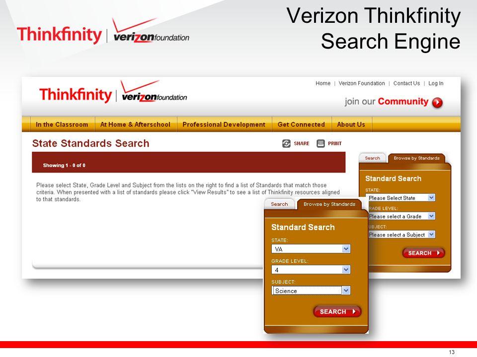 14 Verizon Thinkfinity Search Engine