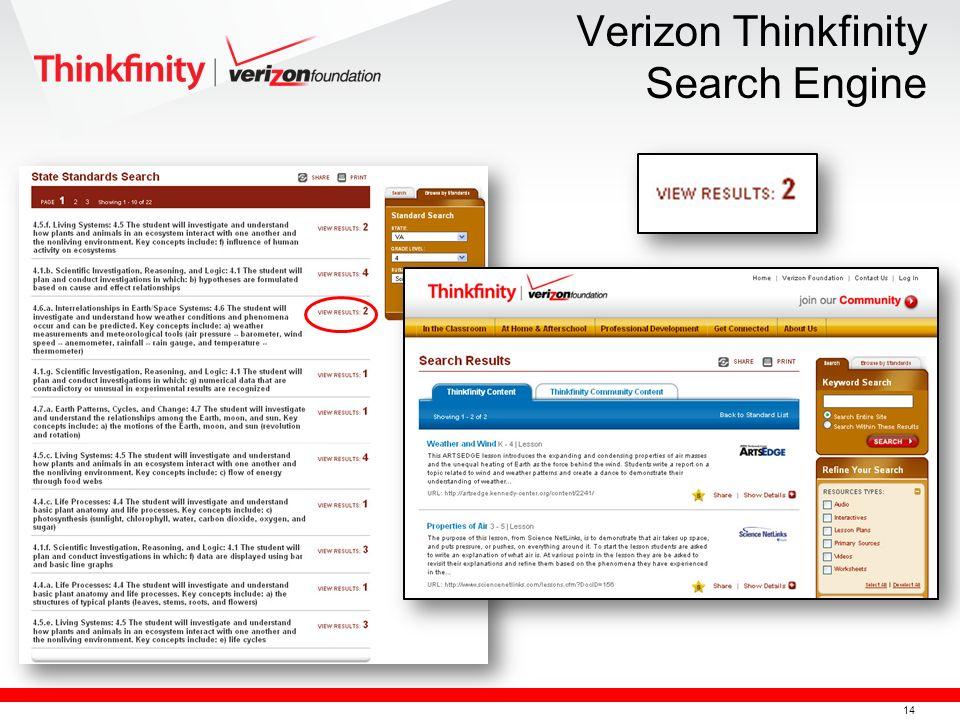 15 Verizon Thinkfinity Search Engine Search Common Core Standards