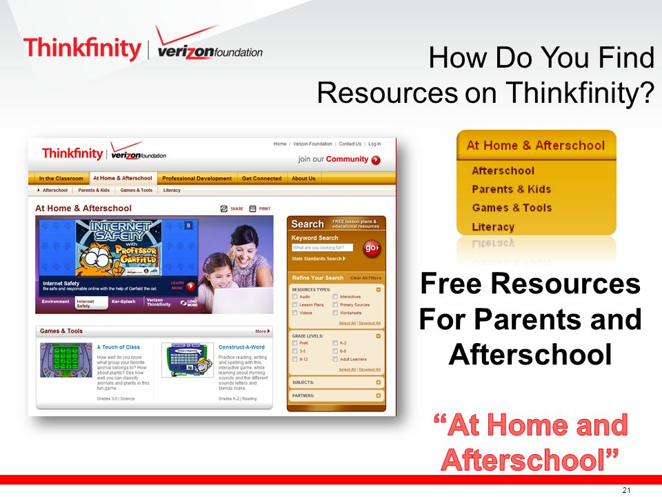 22 Verizon Thinkfinity Calendar How Do You Find Resources on Thinkfinity?
