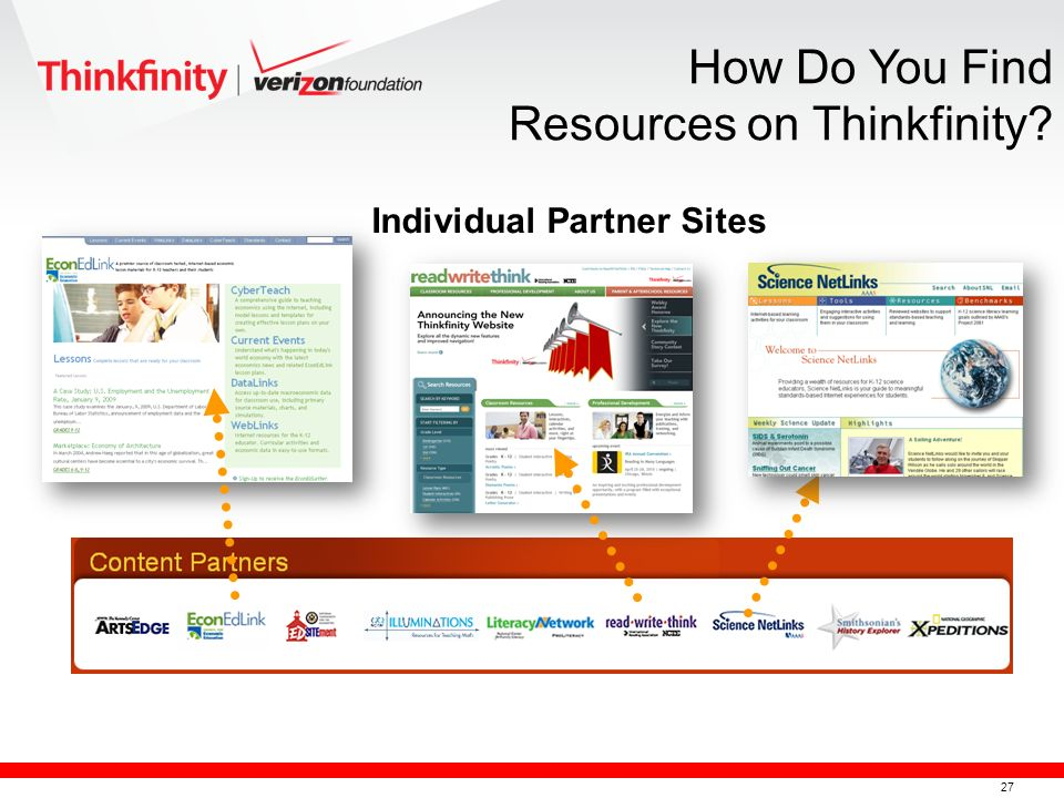 28 º Webinars (FREE) º On-Demand Videos (FREE) º Literacy Trainings (FREE) º Instructional How-to Videos (FREE) º Teachers can also become Verizon Thinkfinity Trainers Additional Training Opportunities