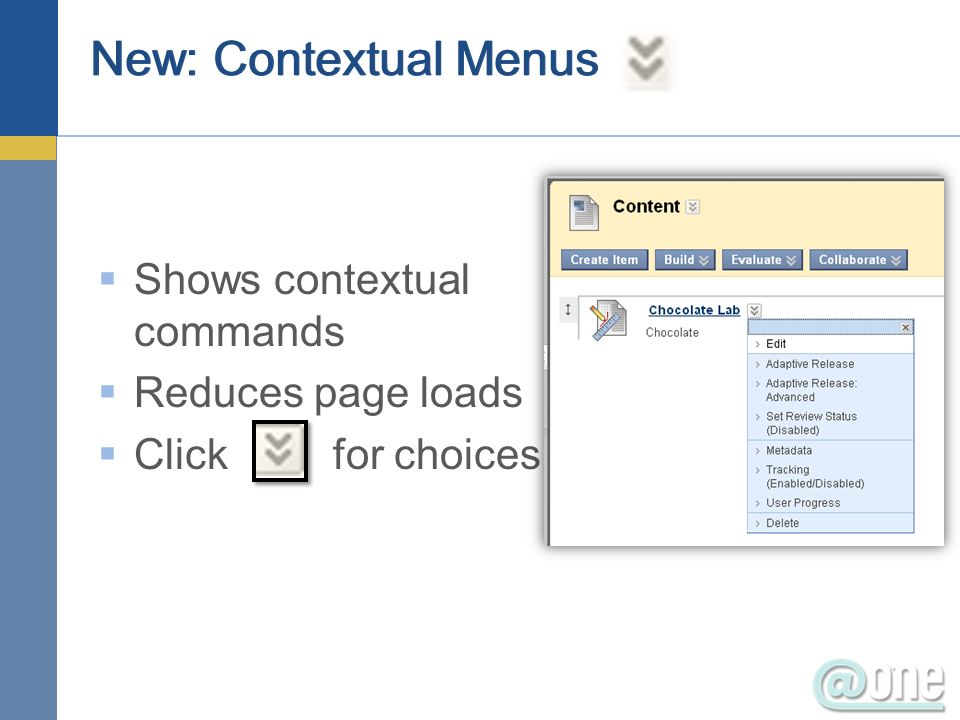 New: Menu Auto-Hide If the menu area is available but without content it is automatically hidden from student view