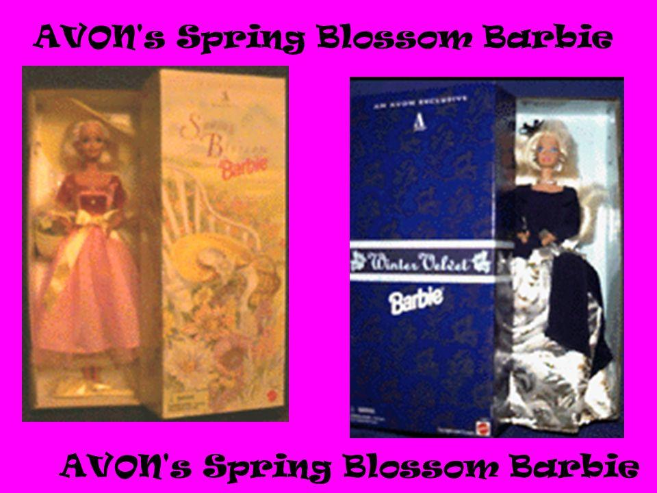 AVON s Spring Blossom Barbie Pog Barbie