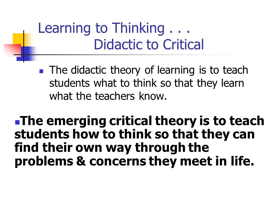 Learning to Thinking...