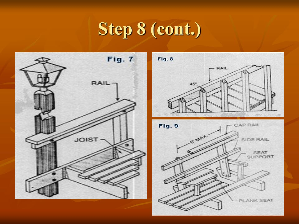 Step 9 Construct steps.