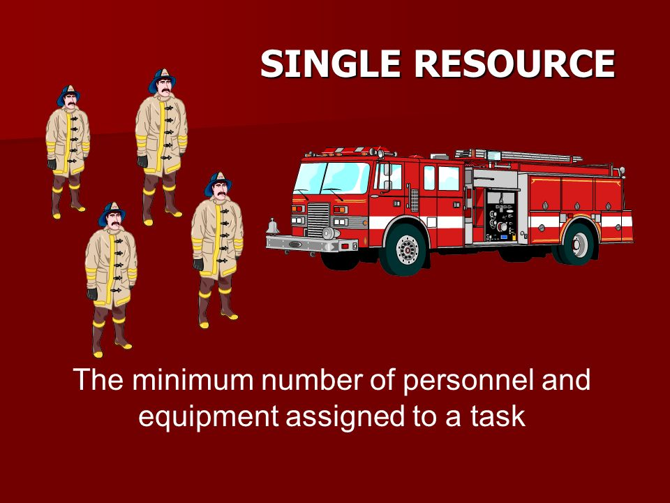 STRIKE TEAM Two or more similar single resources with common communications and a leader Strike Team Leader