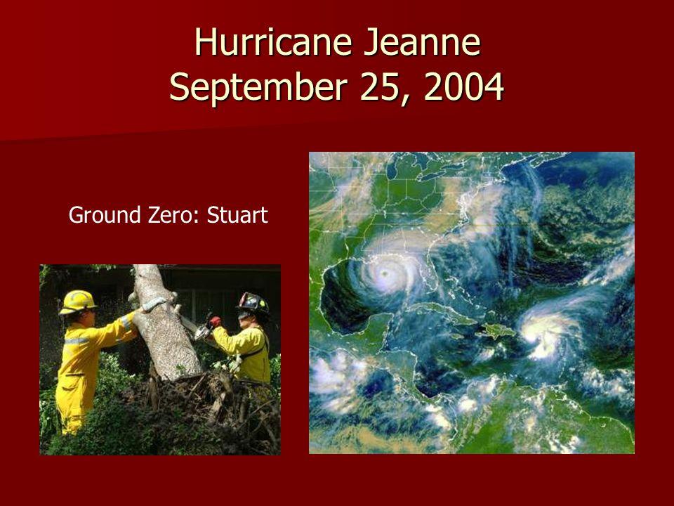 Hurricane Season, 2004 One in five homes were impacted One in five homes were impacted