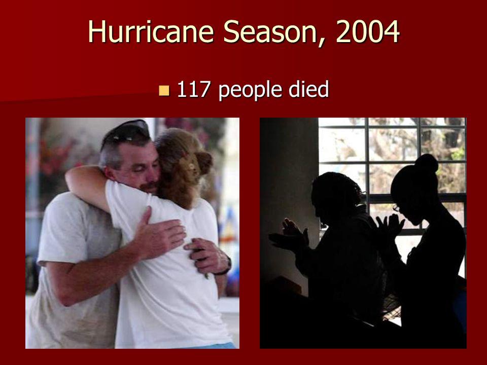 Hurricane Season, 2004 9.4 million people evacuated their homes 9.4 million people evacuated their homes