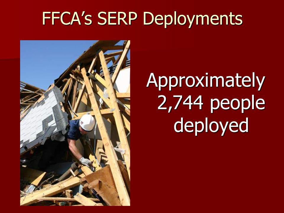 FFCAs SERP Deployments 23 Urban Search and Rescue Teams