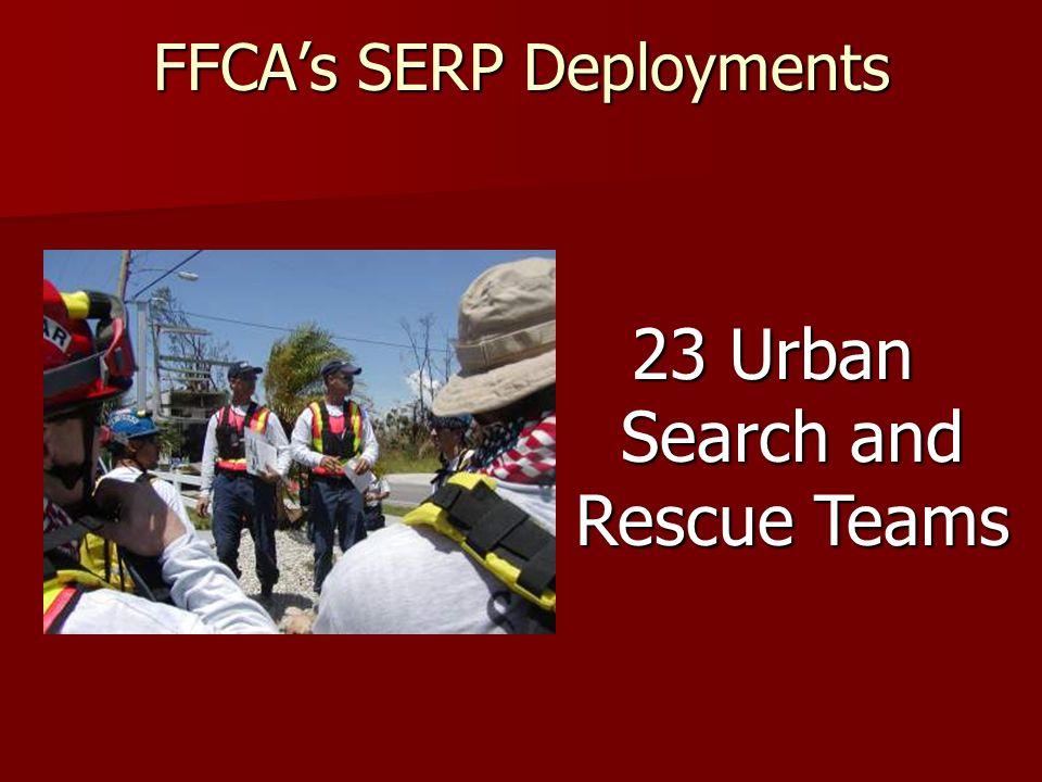 FFCAs SERP Deployments 7 Overhead Teams