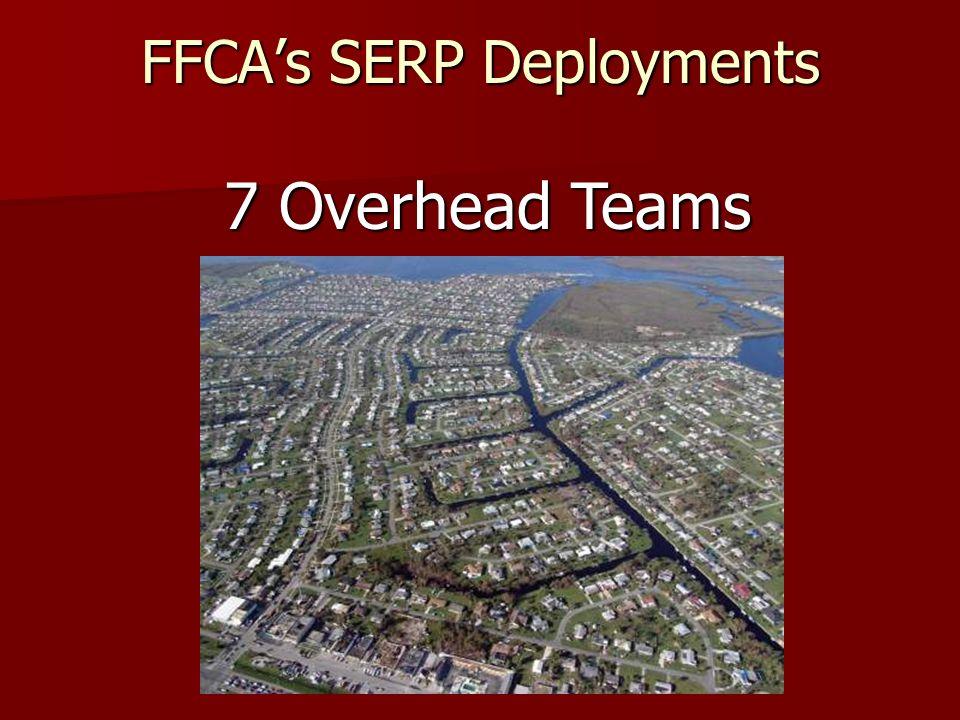 FFCAs SERP Deployments 22 Incident Management Teams