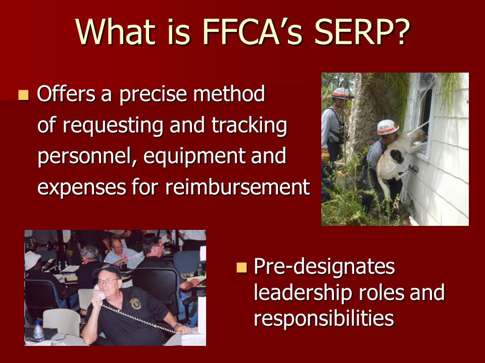 What is FFCAs SERP.