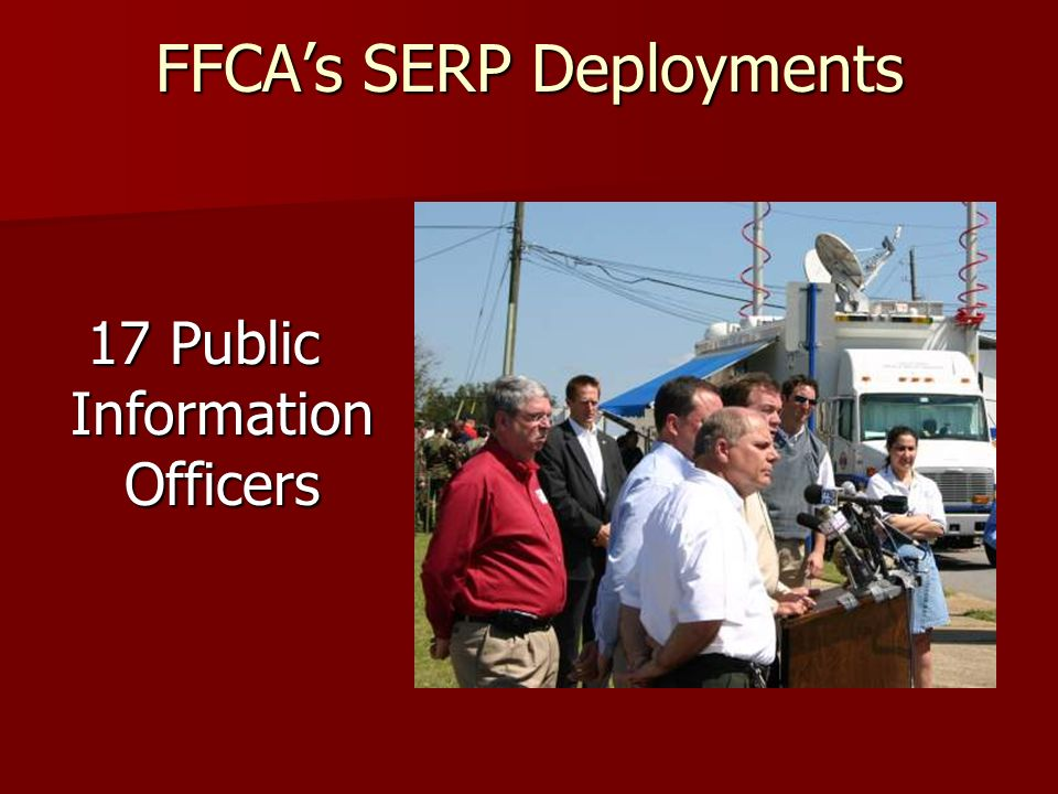 The SERP in action in your community Get involved and learn about the plan before an emergency.