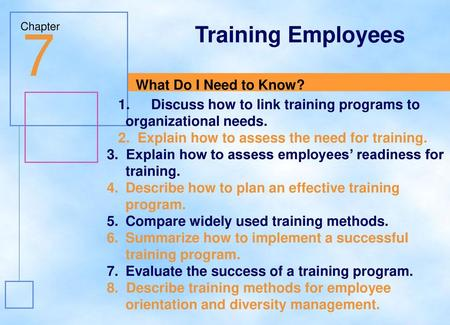 training needs assessment exercise