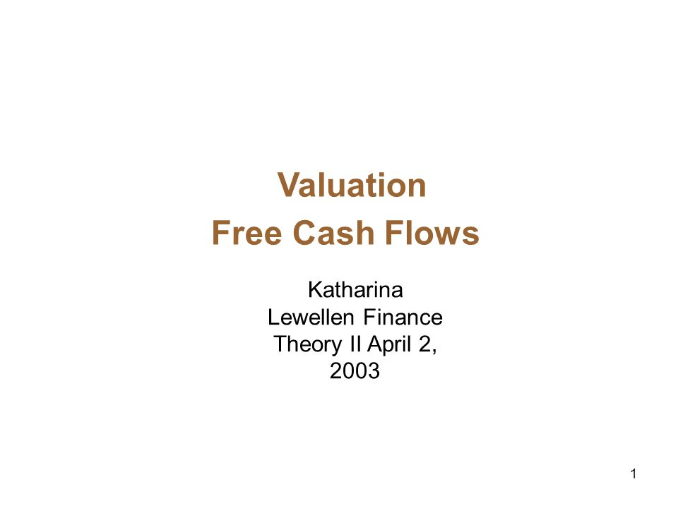 2 Valuation2 Tools A key task of managers is to undertake valuation exercises in order to allocate capital between mutually exclusive projects: Is project A better than doing nothing.