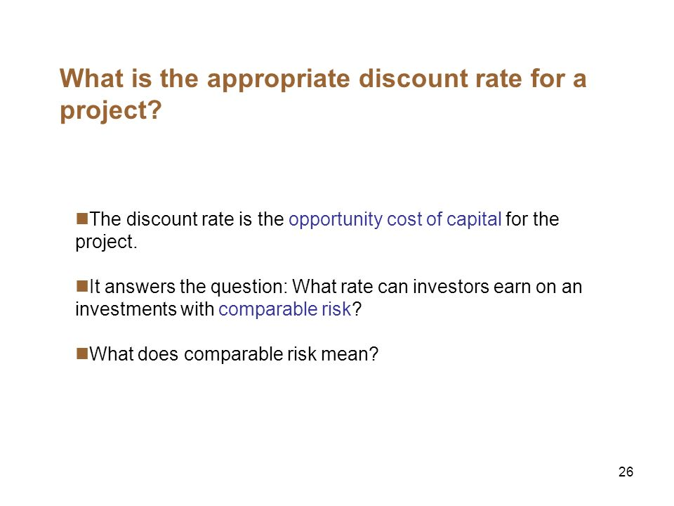 27 Using the CAPM What does comparable risk mean.