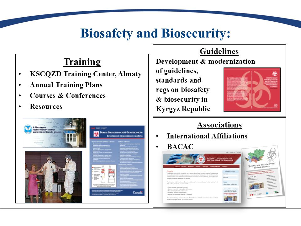 BNP Partnership with the Kyrgyz Republic: $40-45 million (2008-2012/13) New BSL3 Lab (pathogen consolidation) -Design completion - June 2009 -Construction, Cx & Ca: 2009-2012 Security upgrades: complete by Sept 09 Guidelines, Training & Associations BNP (BTWC, Export Controls, etc)