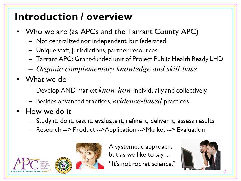 3 Were delivering preparedness tools for...