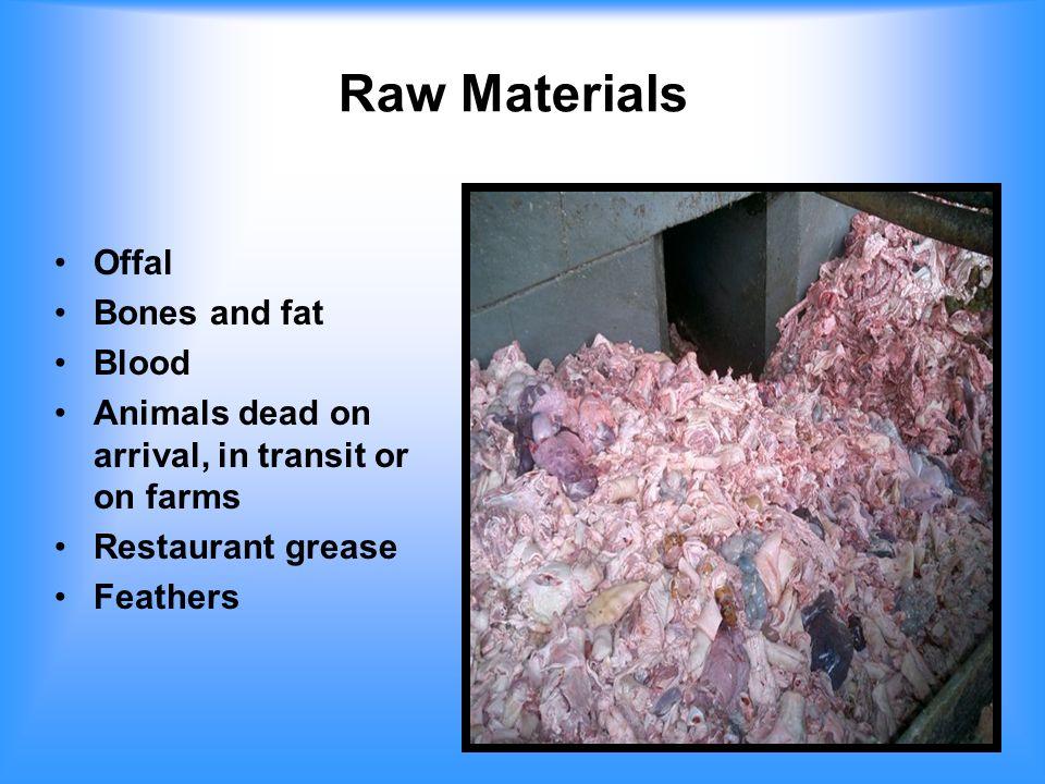 Fallen Animals (Died On Farms) 1.91 million adult cattle/yr 2.92 million calves/yr 18 million swine/yr 350 million lb poultry/yr Total = 4.4 billion lb/yr Approx.