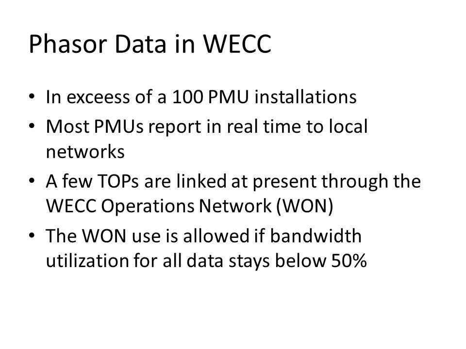 WECC Synchro-phasor Installation