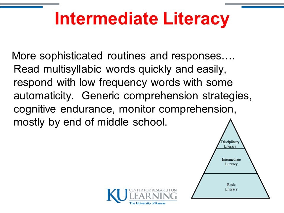 Disciplinary Literacy More specialized reading routines and strategies - -powerful for specific situations but not necessarily generalizable.